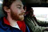 Одолжив у приятеля грузовик, Ахмет вывез нас на трассу, где мы и застопили этого веселого водителя.