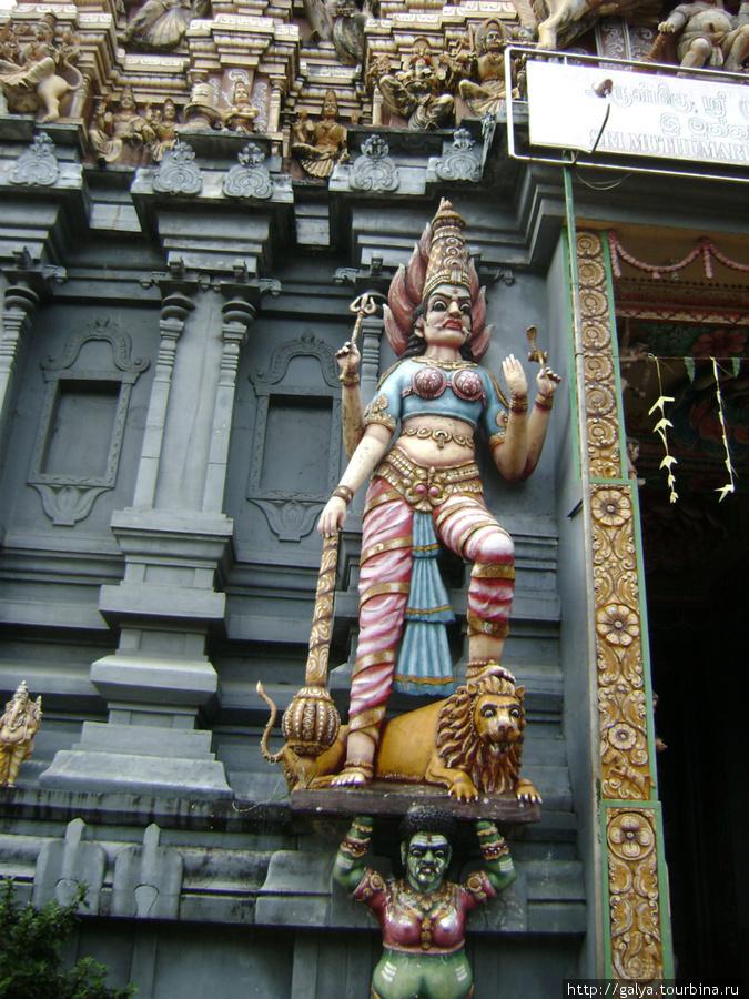 Богиня Кали из индуистского пантеона. Вид у нее всегда немного зверский
