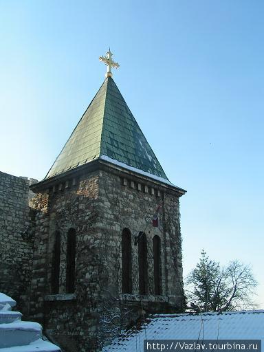 Нынешняя церковная колокольня
