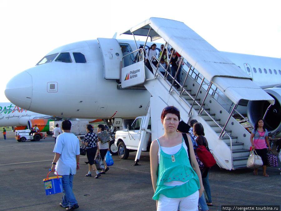 В аэрополрту Пуэрто Принцесса