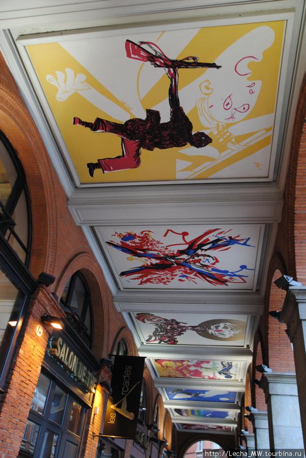 Потолок галерей