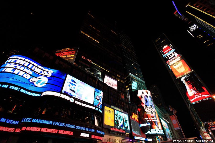 рекламы на Times Square