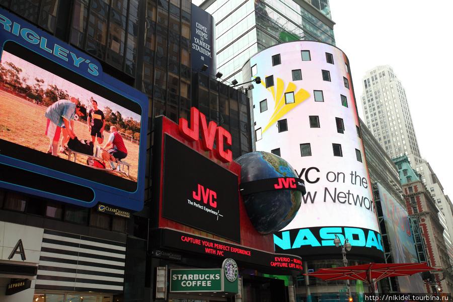 рекламы на Times Square (NASDAQ)