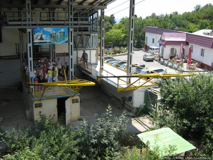 Конечная станция канатной дороги в Мисхоре