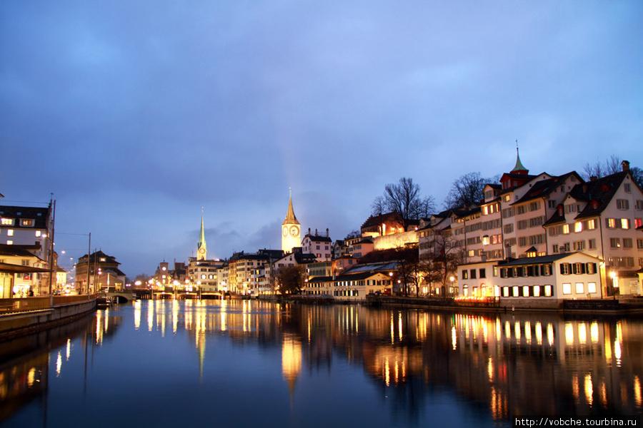Цюрих. Ночь. Цюрих, Швейцария