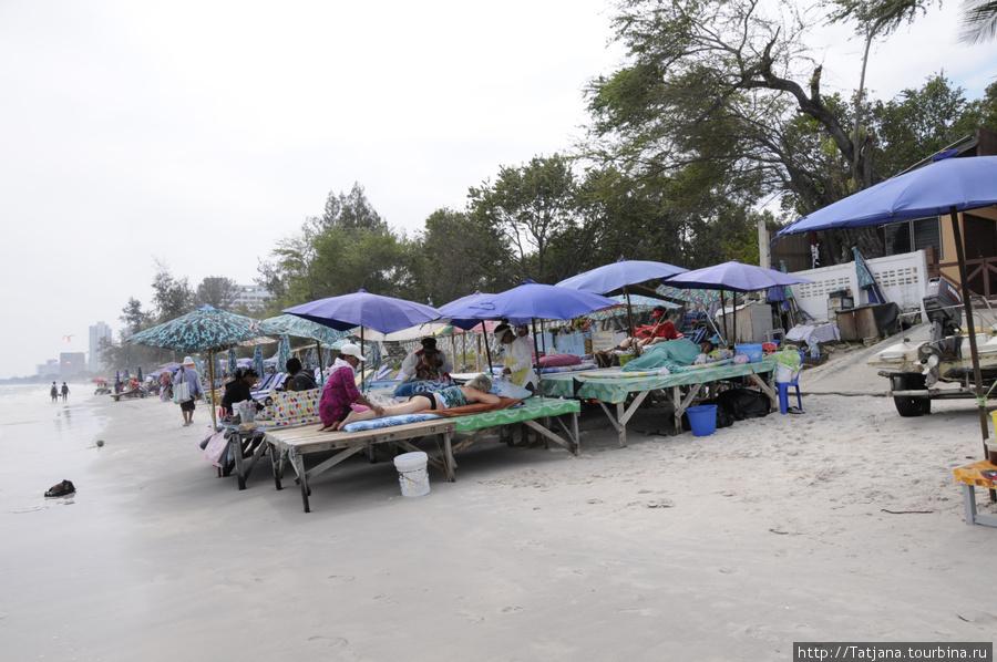 так выглядят массажные точки на береговой линии Хуа-хина