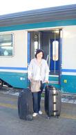 Все свое вожу с собой:) Из Неаполя в Скалеа на поезде