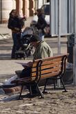 19.02.2011 года. Площадь Рынок в Пшемышле. Хорошо сидим...