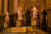18.02.2011 года. Вечерний Пшемышль. Фасад костёла францисканцев
