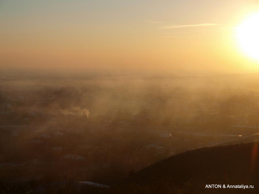 Закат на Кавказском хребте