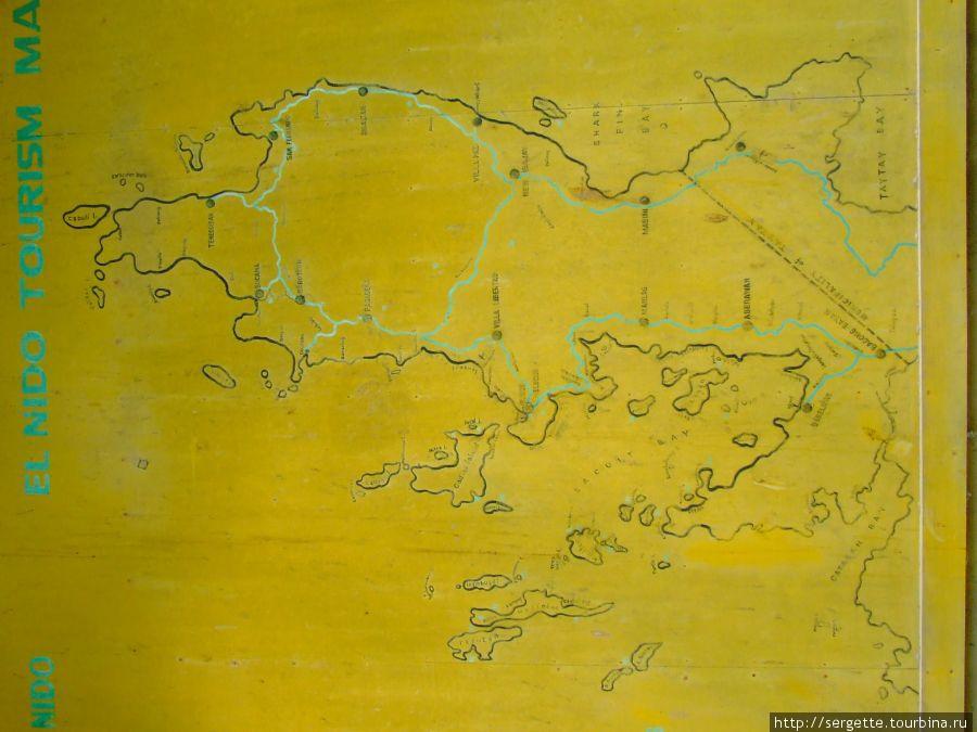 Карта провинции Эль Нидо
