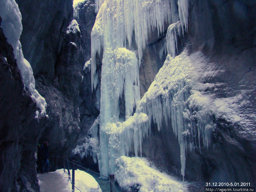 Ущелье Партнахкламм. Ледяные узоры.