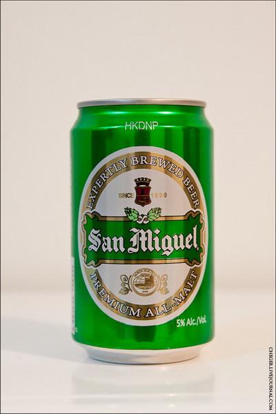 San Miguel  Тип: all malt Крепость: 5 % Стоимость: 49 песо Комментарий: неплохое пиво, но все равно какое то водянистое и неплотное, хотя является самым дорогим из линейки Сан Мигуэль. Из светлых, пожалуй, лучшее тут. Рейтинг: 6