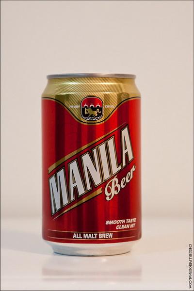 Manila Тип: all malt Крепость: 7 % Стоимость: 29 песо Комментарий: паршивое крепкое пиво, горчит сильно, очень чувствуется алкоголь, как то странно пахнет . Рейтинг: 3