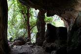 На входе в пещеру