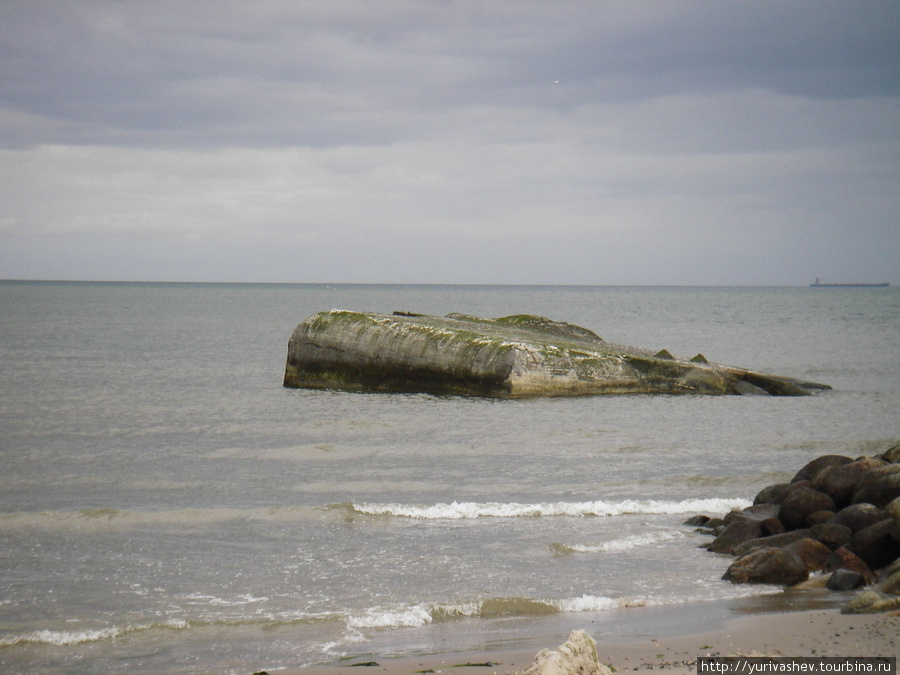 Скаген, смытый в море немецкий бункер WWII