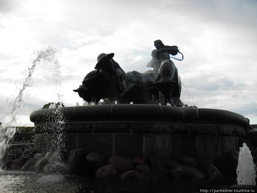 Копенгаген, фонтан