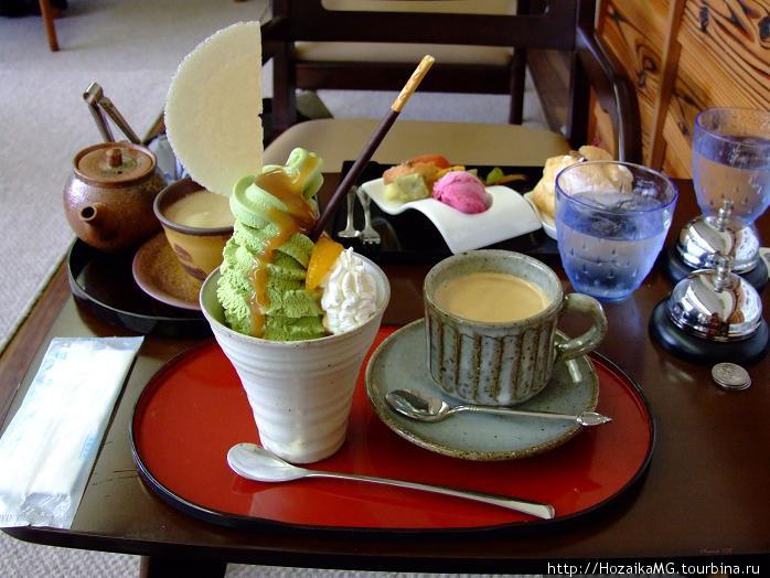 Мороженное из зеленого ча