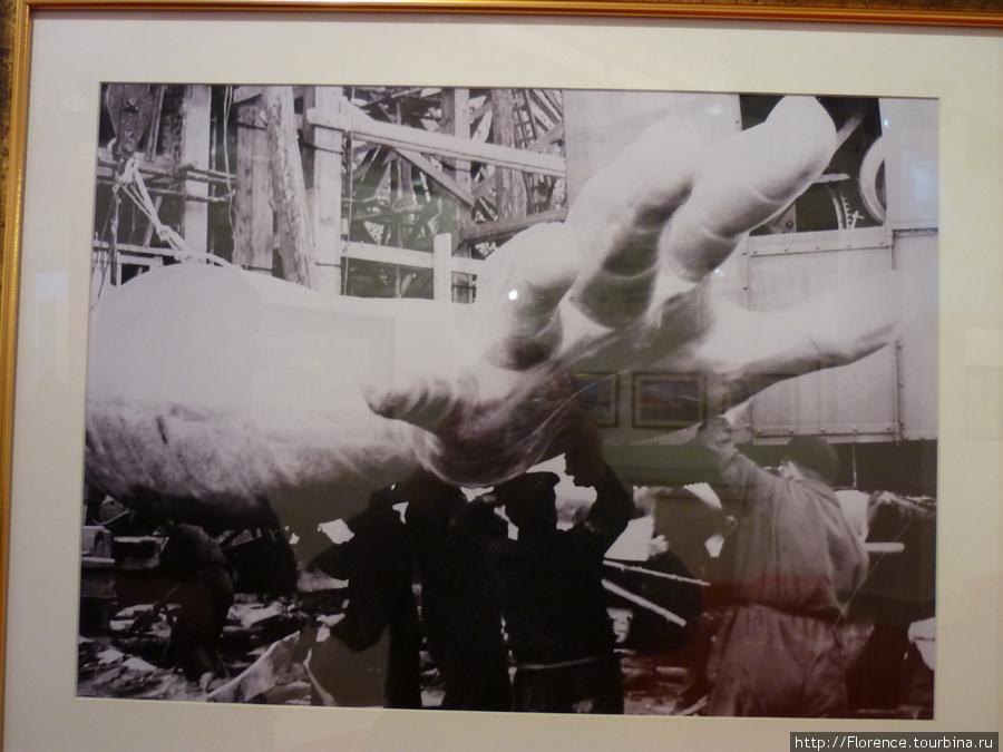 Фото из музея. Монтаж скульптуры