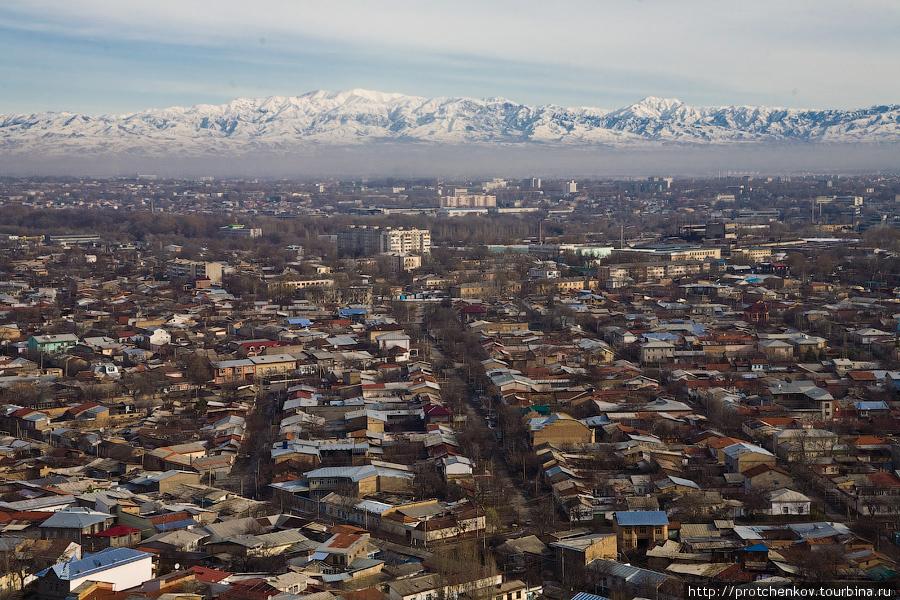 Вид на Ташкент с телебашни