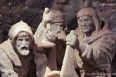 г. Бохня, Польша. Соляная шахта Бохни. Солевые скульптуры шахтеров, которые добывали соль