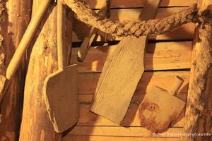 г. Бохня, Польша. Соляная шахта Бохни. Раньше соль добывали деревянными лопатами