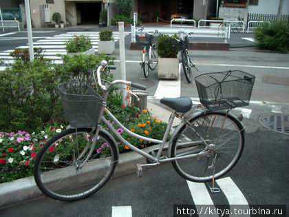 Обычный японский велосипед