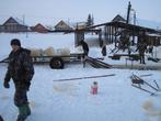 Заготовка льда на реке Ловать