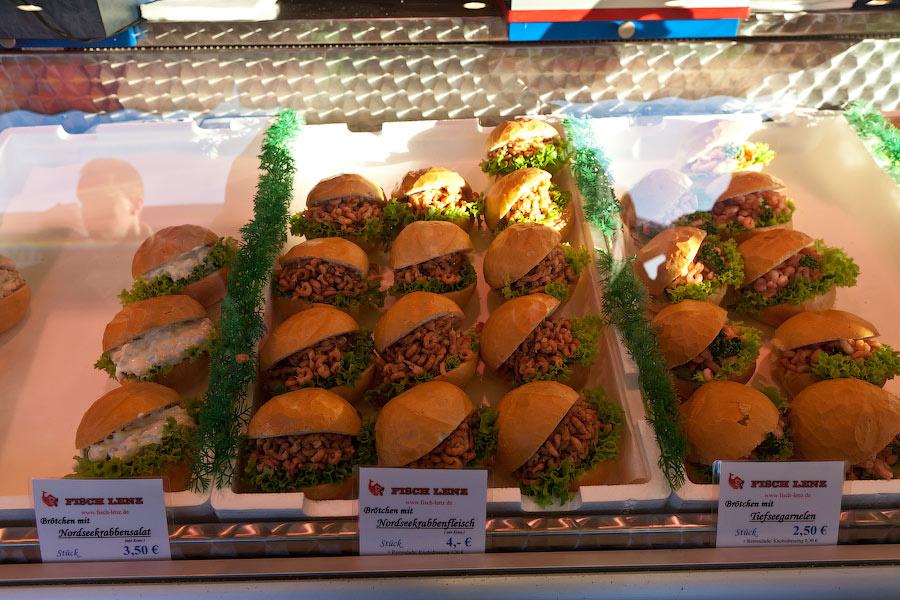 Традиционные бургеры с креветками
