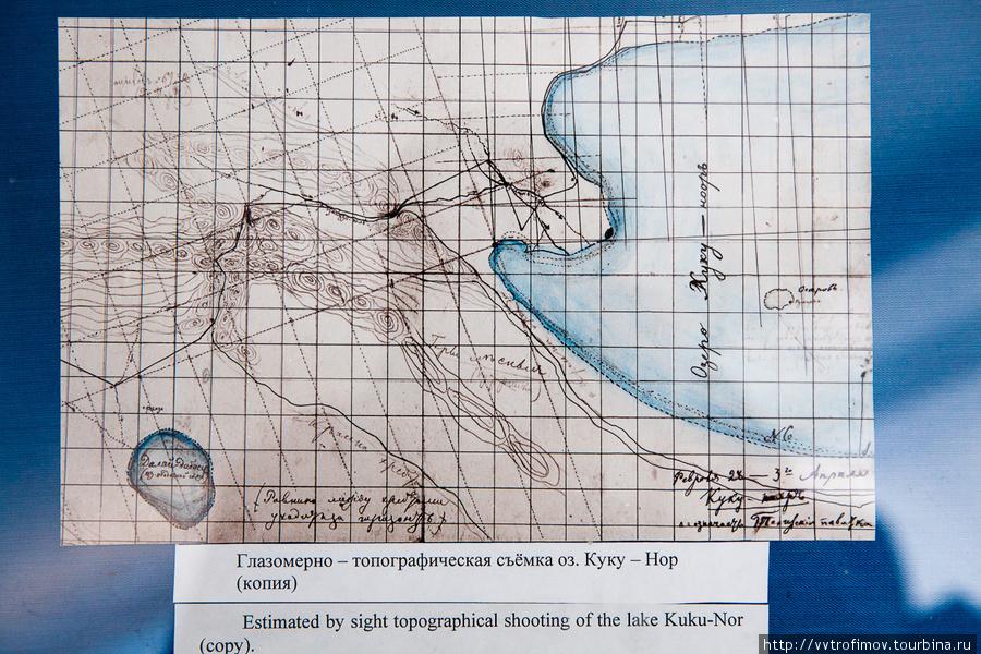 Копия карты, нарисованной Пржевальским
