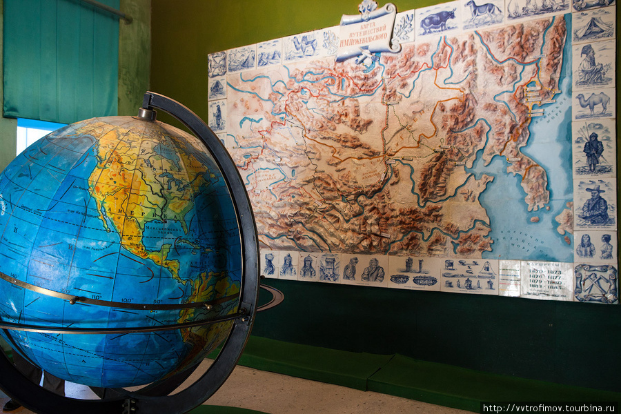 Карта путешествий Пржевальского