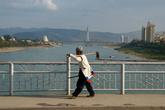 Вид на левобережную часть Джинхонга.