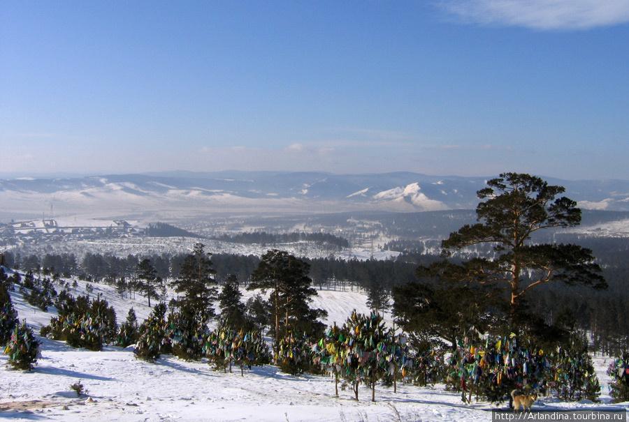 Вид на Улан-Уде с Лысой горы.
