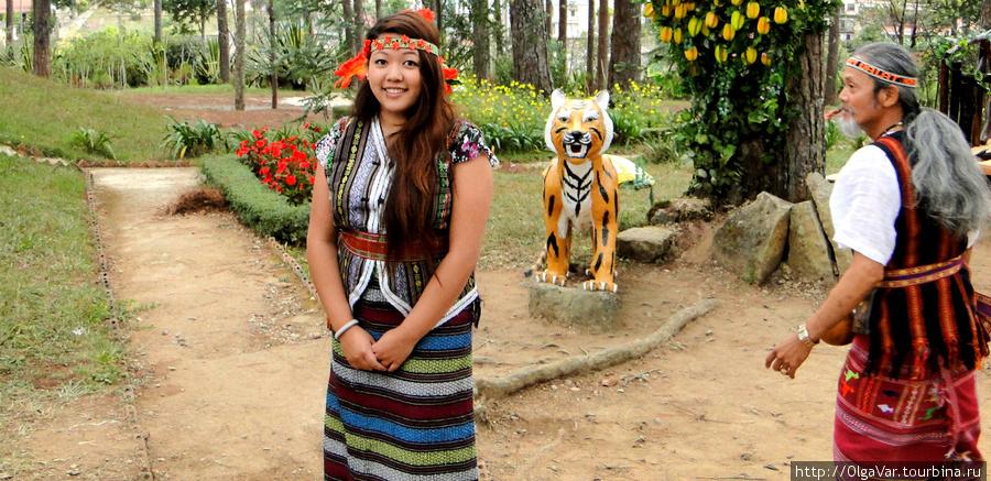 Местное горное племя лато