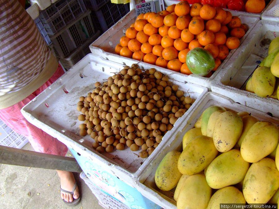 Манго, ланган, мандарины