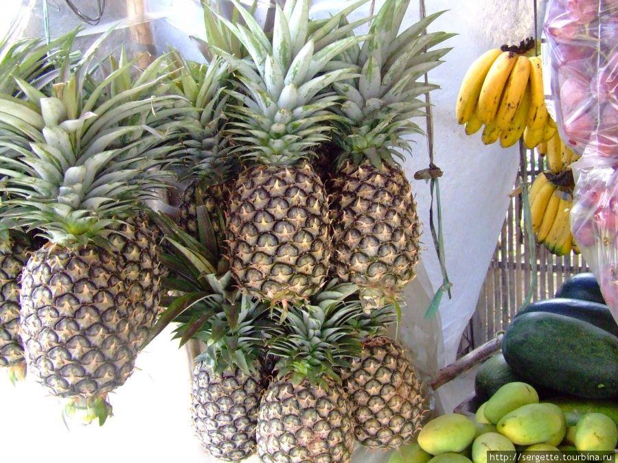 Треье место — ананас. Идеальный вкус. Продают их и чищенные