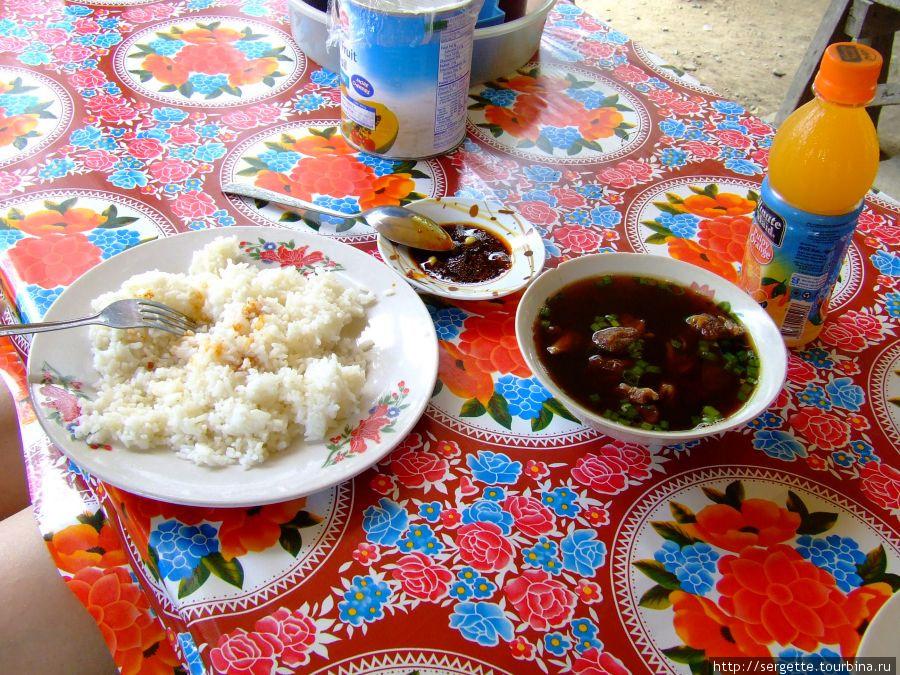 Рис + рыба в соусе