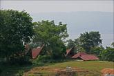 Традиционные батакские дома с седловидной крышей.