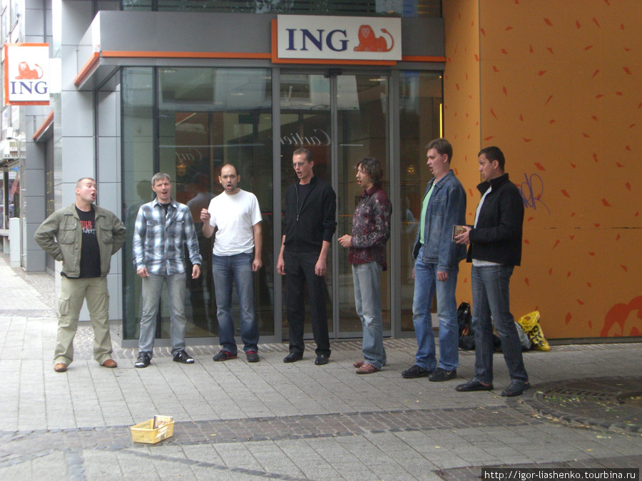 Люксембург — наши ребята поют