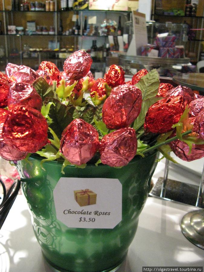 От сердца и почек ... дарю вам шоколадный цветочек!