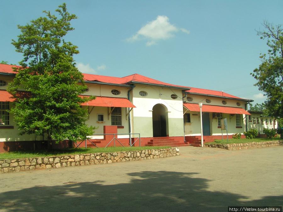 Парадный фасад здания вокзала