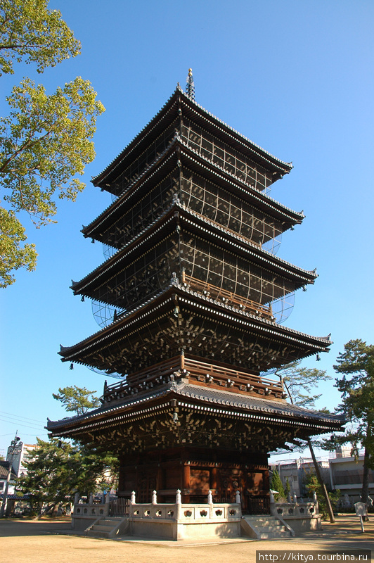 Пагода в храме Дзэнцудзи