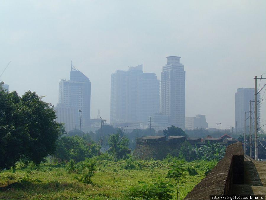 Смог Манилы, почти как утрений туман
