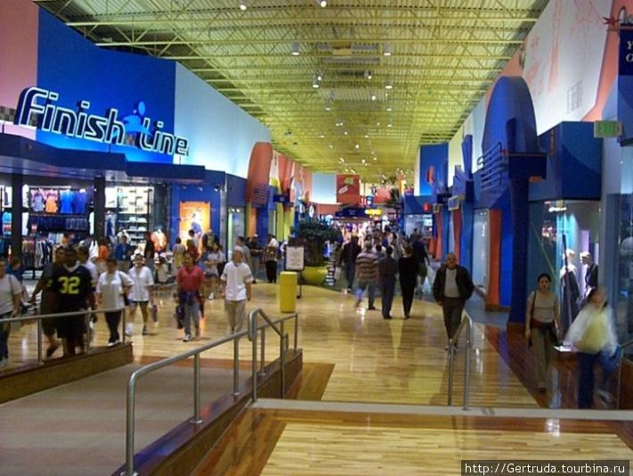 Магазины по обе  стороны идушего по кругу прохода, как проспекта.