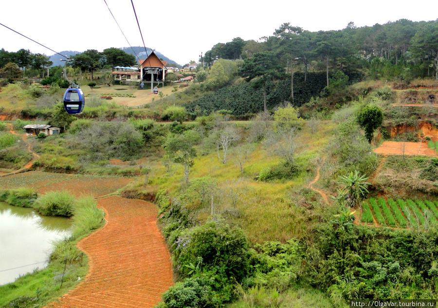 Конечный пункт канатной дороги — станция на горе Фунг Хоанг