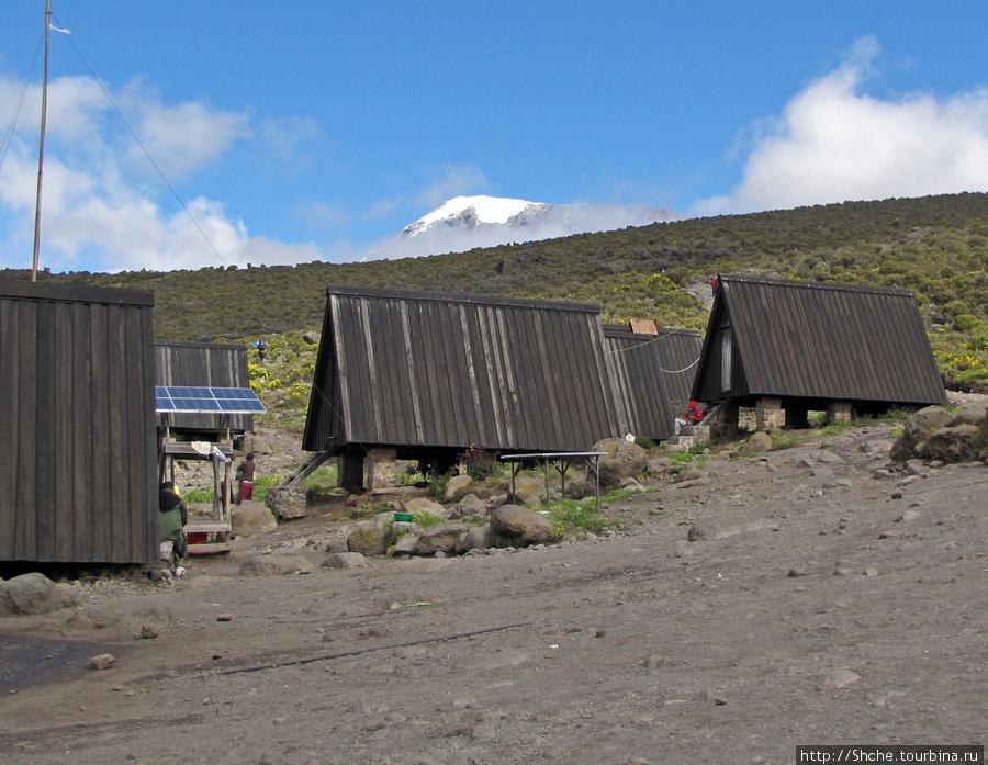 Вид на вершину с лагеря Horombo Hut ( 3720m)