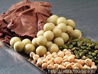 Ингредиенты для производства Original Salzburg Mozartkugel. Фото с сайта компании Фёрст.