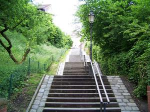 Лестница от рва в старый город