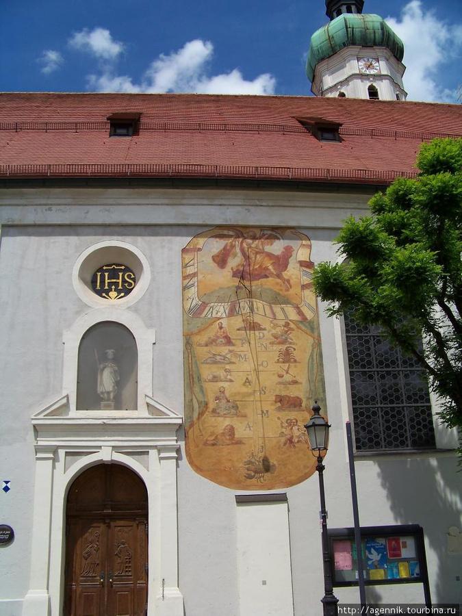 Солнечные часы на Домском Соборе St. Jacob