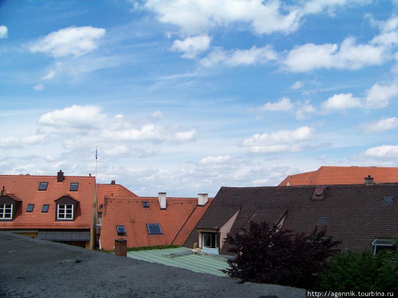 Крыши домов в старом городе